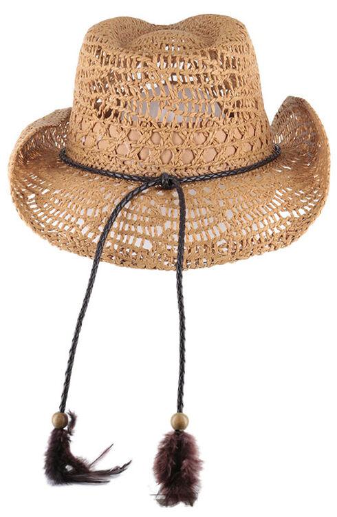 Shyanne Women's Brackley Straw Hat, Tan, hi-res