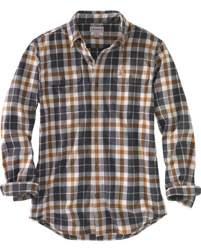 Carhartt Men's Hubbard Plaid Shirt , Slate, hi-res
