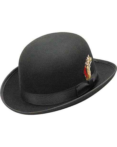 Western Express Men's Black Wool Felt Derby Hat , Black, hi-res