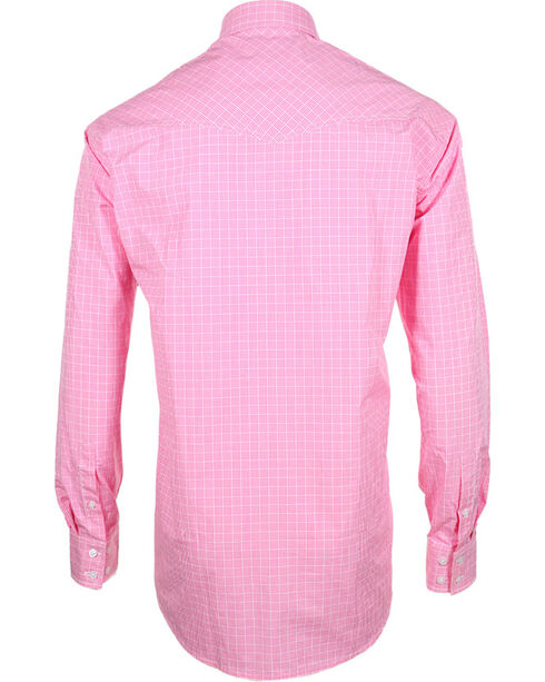 Miller Ranch Men's Check Pattern Long Sleeve Western Shirt, Pink, hi-res
