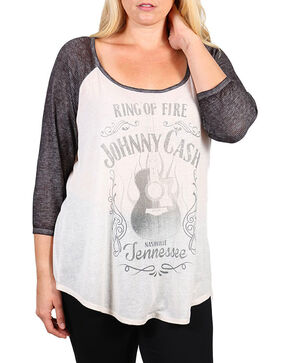 Signorelli Women's Project Johnny Cash Baseball Tee - Plus, Ivory, hi-res