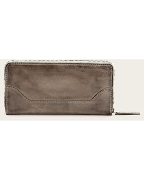 Frye Women's Melissa Zip Wallet , Grey, hi-res