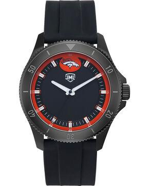 Jack Mason Men's Denver Blackout Silicone Watch , Black, hi-res