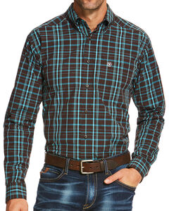 Ariat Men's Brown Palmer Long Sleeve Shirt , Brown, hi-res