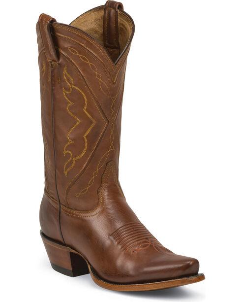 Tony Lama Women's El Paso Cowgirl Boots - Snip Toe, Tan, hi-res