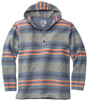 Pendleton Men's Serape Stripe Surf Popover , Green, hi-res