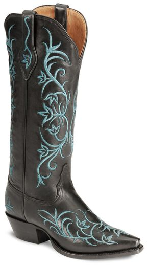 Tony Lama Signature Series Pitiado Cowgirl Boots - Snip Toe, Black, hi-res
