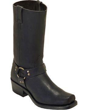 Boulet Men's Harness Motorcycle Boots - Square Toe, Black, hi-res
