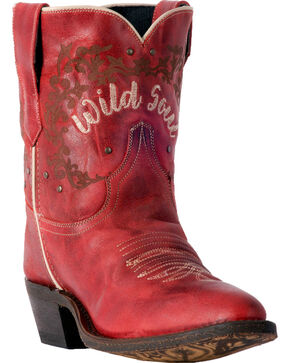Laredo Women's Reckless Red Wild Soul Short Cowgirl Boots - Medium Toe, Red, hi-res