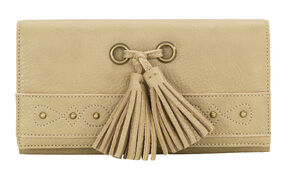 Bandana by American West San Raphael Tan Flap Wallet, Tan, hi-res