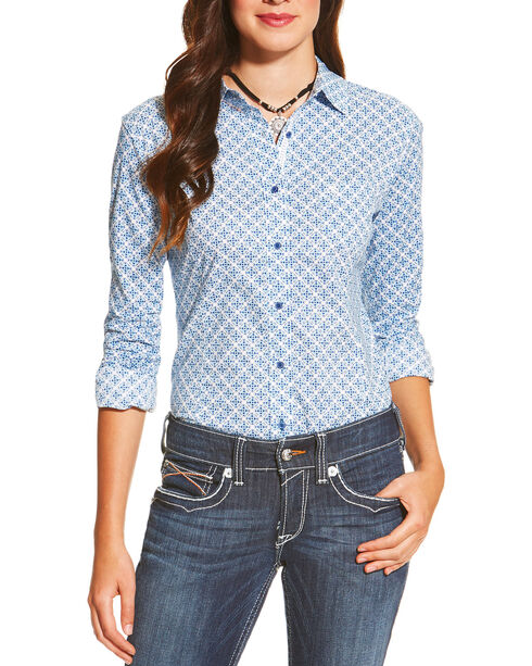 Ariat Women's Kirby Ditsy Print Long Sleeve Shirt, Multi, hi-res