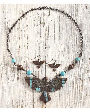Shyanne Women's Thunderbird Jewelry Set, Rust Copper, hi-res
