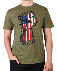 Brothers & Arms Men's Green Fight To Win Short Sleeve Tee , Green, hi-res