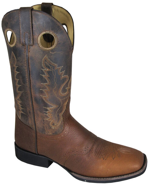 Smoky Mountain Men's Luke Cowboy Boots - Square Toe, Brown, hi-res
