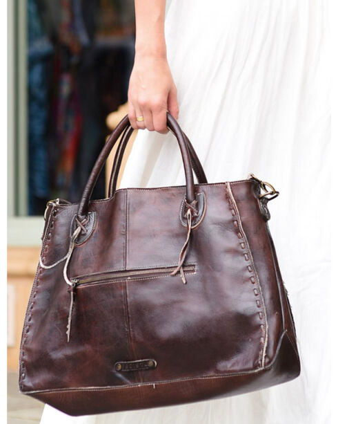 Bed Stu Women's Rockaway Teak Rustic Handbag, Dark Brown, hi-res