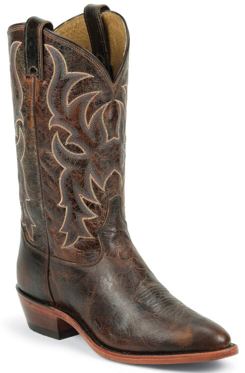 Tony Lama Men's Americana Leather Western Boots - Round Toe, Brown, hi-res