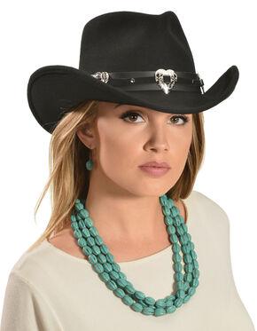 Julia Cowgirl Hat, Black, hi-res