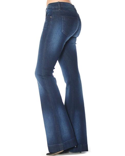 Grace in LA Women's Indigo Simple Trousers - Flare , Indigo, hi-res