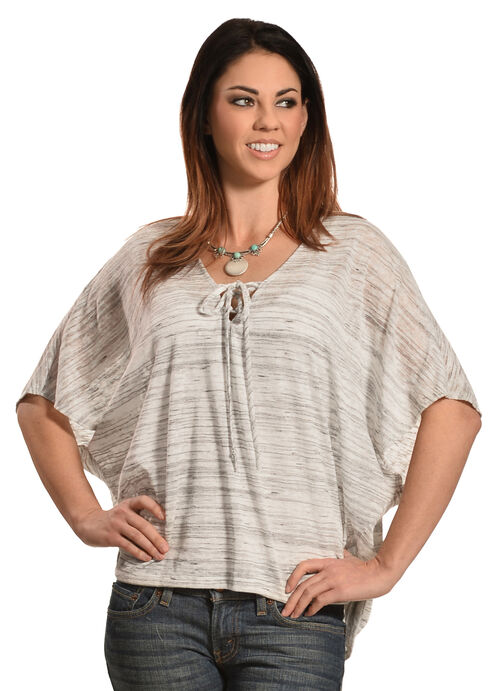 Petrol Women's Short Sleeve Poncho, Grey, hi-res