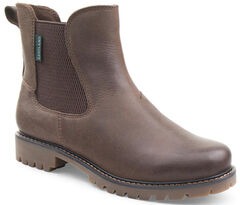 Eastland Women's Dark Tan Ida Chelsea Boots , Brown, hi-res