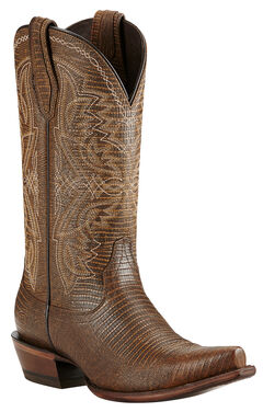Ariat Alamar Lizard Print Cowgirl Boots - Snip Toe, , hi-res