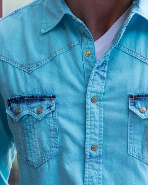 Ryan Michael Men's Tinted Indigo Shirt - Big and Tall , Blue, hi-res