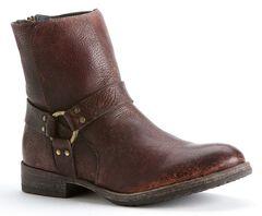 Frye Men's Dean Harness Boots, Dark Brown, hi-res