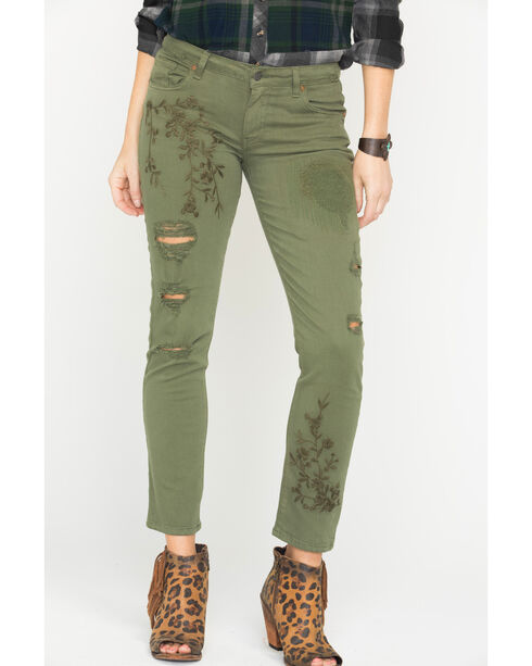 MM Vintage Women's Green Cassie Easy Jeans - Straight Leg, Green, hi-res