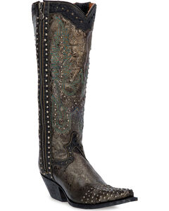 Dan Post Tempted Studded Cowgirl Boots - Snip Toe  , , hi-res