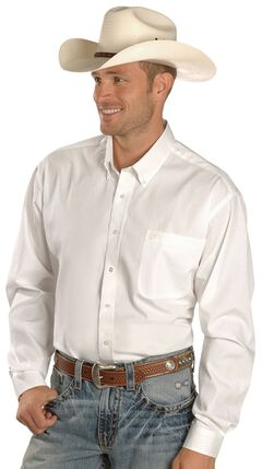 Cinch Solid Weave White Shirt - Big & Tall, , hi-res