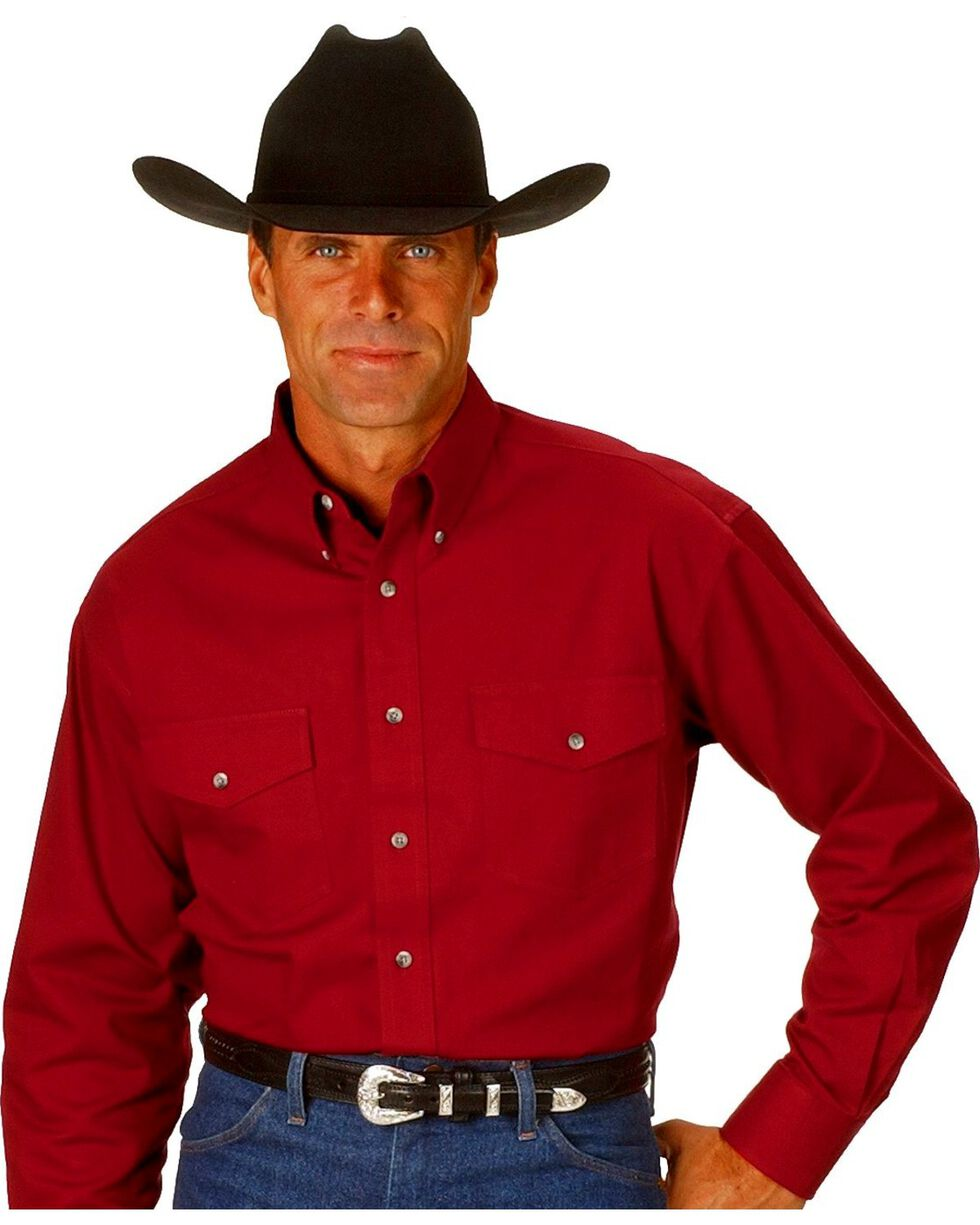 Wrangler Painted Desert Shirt - Tall, Big/Tall, Red, hi-res