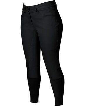 Dublin Active Shapely Full Seat Black Breeches, Black, hi-res
