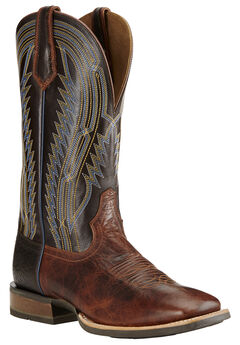 Ariat Men's Chute Boss Caliche Cowboy Boots - Square Toe, Brown, hi-res