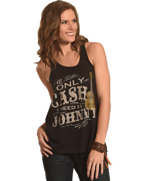 Bohemian Cowgirl Women's The Only Cash I Need Tank, Black, hi-res