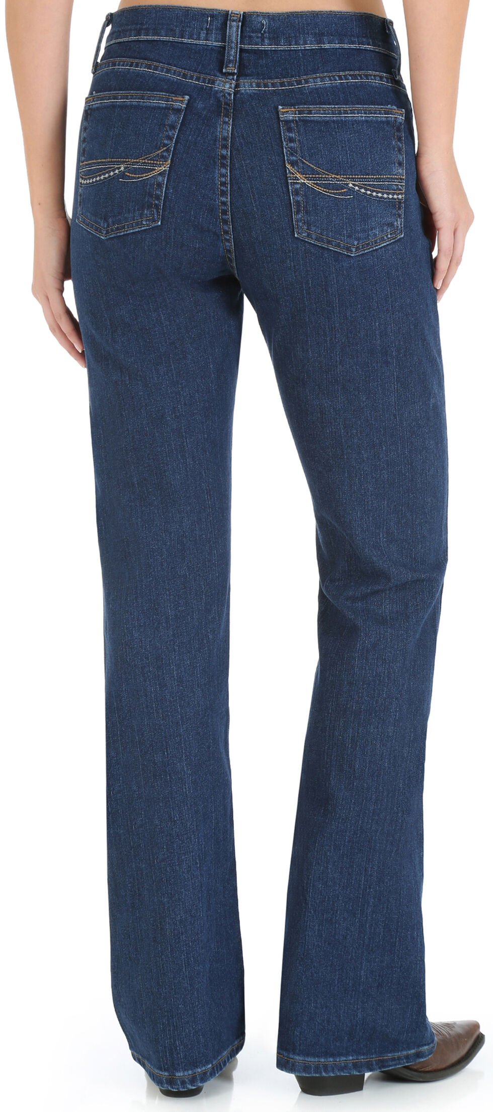 Wrangler Women's As Real As Classic Fit Boot Cut Jeans, Denim, hi-res