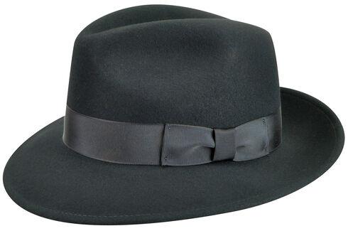 Country Gentleman Men's Black Frederick Fedora , , hi-res
