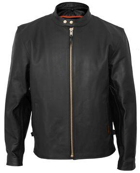 Interstate Leather Vented Touring Jacket - XL, Black, hi-res
