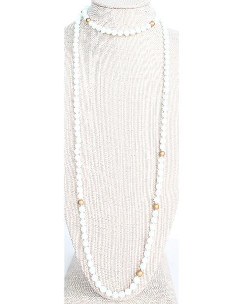 Everlasting Joy Women's White Glam Wrap Necklace, White, hi-res