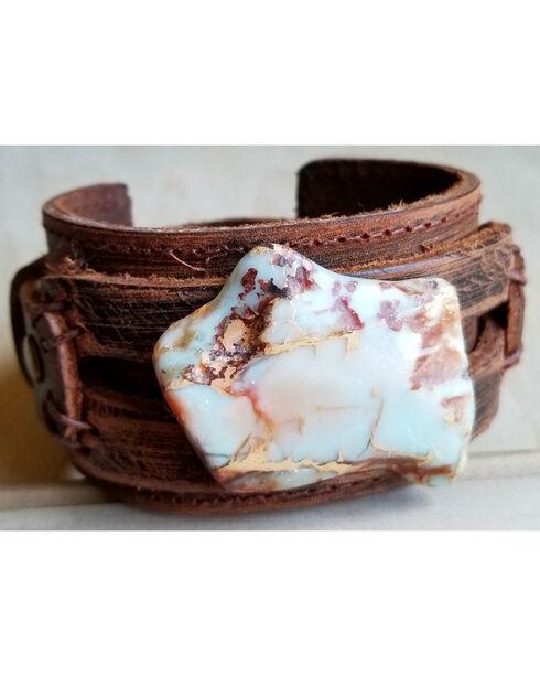 Jewelry Junkie Women's Aqua Terra Slab Cuff Bracelet , Multi, hi-res