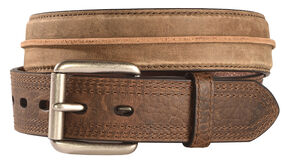 Ariat Distressed Striped Leather Belt, Brown, hi-res