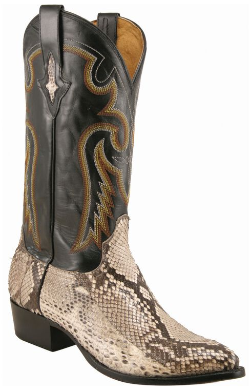 Lucchese Handcrafted 1883 Belly Cut Python Cowboy Boots, , hi-res