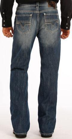 Rock and Roll Cowboy Double Barrel Abstract V Jeans - Boot Cut , , hi-res