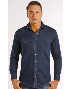 Rough Stock by Panhandle Slim Men's Navy Newbridge Vintage Western Shirt , Navy, hi-res