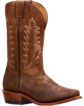 Boulet Women's Challenger Carnaza Antick Cafe Cowgirl Boots - Cutter Toe, Brown, hi-res