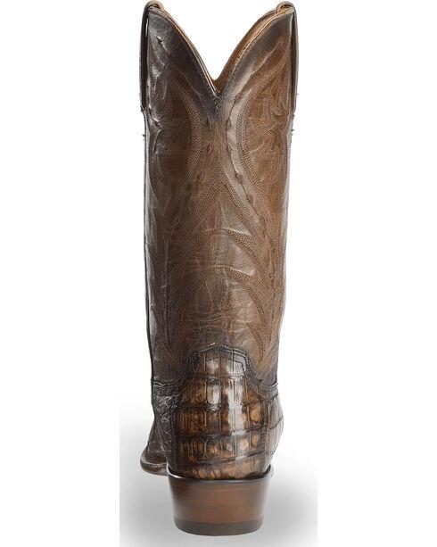 Lucchese Men's Bernie Caiman Belly Cowboy Boots - Snip Toe, Dark Brown, hi-res