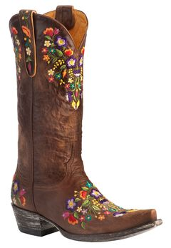 Old Gringo Sora Cowgirl Boots - Snip Toe, Brass, hi-res