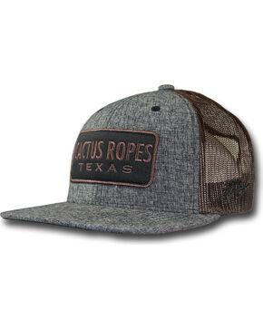 Hooey Men's Grey Cactus Ropes Logo Patch Baseball Cap , Grey, hi-res