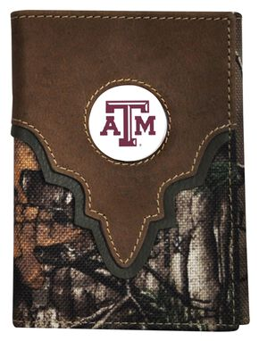 Texas A&M Camo Concho Tri-fold Wallet, Camouflage, hi-res