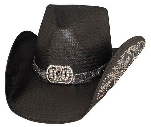 Bullhide Cowgirl Fantasy Black Straw Cowgirl Hat, Black, hi-res