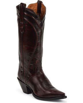 Nocona Acento Cowgirl Boots - Snip Toe, Black Cherry, hi-res
